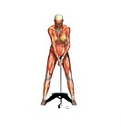 muscle woman as golfer