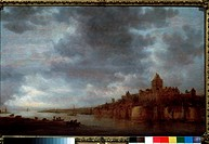 View of the Waal near Nijmegen. Goyen, Jan Josefsz, van (1596-1656). Oil on wood. Dutch Painting of 17th cen. . 1649. State A. Pushkin Museum of Fine ...