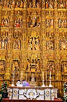 Spain, Andalusia.The Cathedral of Santa Maria de la Sede. Capilla Mayor