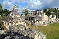 Central Acropolis, Maya ruins of Tikal, near Flores, Guatemala