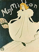 May Milton (Poster). Toulouse-Lautrec, Henri, de (1864-1901). Colour lithograph. Postimpressionism. 1895. State A. Pushkin Museum of Fine Arts, Moscow...