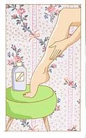 Leg of a woman creaming