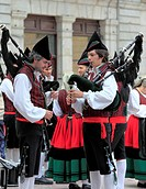 Traditional Asturian Bagpipes, Oviedo, Asturias, Spain