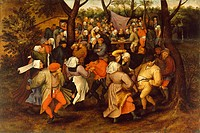 Peasant Wedding Dance. Brueghel, Pieter, the Younger (1564-1638). Oil on wood. Early Netherlandish Art. 1607. Walters Art Museum, Baltimore. 38x57,2. ...