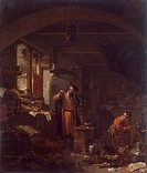 An Alchemist. Wyck, Thomas (ca. 1616-1677). Oil on canvas. Baroque. State Hermitage, St. Petersburg. 41x35,5. Painting.