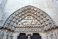 Romanesque portal, Cathedral, Burgos, Castile and Leon, Spain