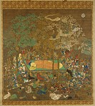 Nirvana of the Buddha. Anonymous . Watercolour on silk. The Oriental Arts. Early 14th century. Freer Gallery of Art, Washington, D. C. . 306,9x214. Pa...
