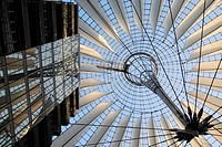 The Sony center in Potsdamer Platz, Berlin, Germany