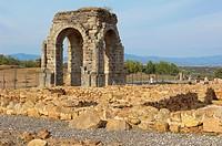 Roman arch of Caparra (1st-2nd century AD), Caparra, Zarza de Granadilla, Via de la Plata, Caceres province, Extremadura, Spain