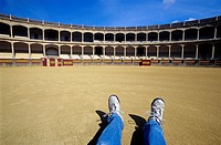 Arena bullring, Ronda, Malaga province, Andalusia, Spain
