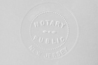 A New Jersey notary stamp