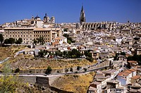 Cityscape and the cathedral, Toledo, Spain