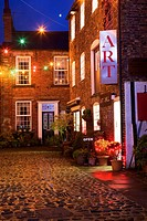 Green Dragon Yard at Christmas Knaresborough Yorkshire England