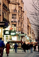Paris, France, Street Scene, Avenue du Champs-Elysees, 75008, at Dusk