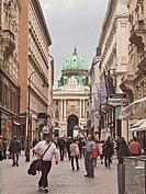 Kohlmarkt Street with Hofburg Complex beyond  Vienna, Austria
