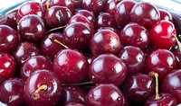 Background of closeup fresh cherries