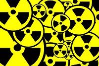 Radiation sign background