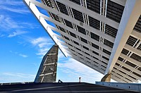 Photovoltaic Pergola, Forum Area, Barcelona, Catalonia, Spain