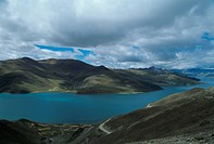 Natural scenery of mountains and water in Tibet,China