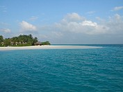 Scenery of sea in Maldives