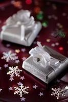 Gift box of chocolates to Christmas