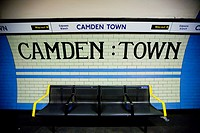 Camden Town Underground station  London England, UK