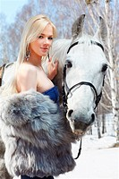 beautiful girl with horse