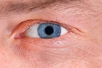 Man´s blue eye