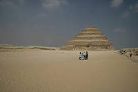 the Memphis step pyramid in Egypt