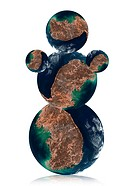 Snowman by Earth planet