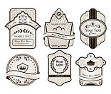 set retro variation vintage labels 1