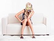 woman in scuba mask