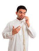 Middle eastern arab businessman on the phone