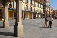 Plaza Mayor (main square), Astorga, Silver Route, Leon province, Castilla y Leon, Spain