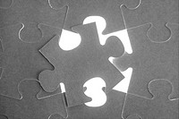 puzzle, communication teamwork metaphor