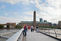 Millennium Bridge and Tate Modern, London, England, United Kingdom