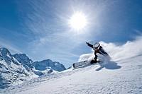 Mountain, mountains, winter, snow, winter sports, canton, Graubünden, Grisons, Switzerland, Europe, Engadin, Engadine, Upper Engadine, Piz Bernina, Pi...
