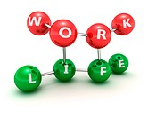Correlation scheme of work and life