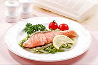 Wine Steamed Salmon
