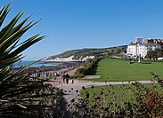 England, East Sussex, Eastbourne. Western Lawns by the seafront in Eastbourne.