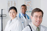 Group portrait of smiling doctors