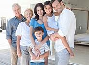 Portrait of smiling multi_generation family