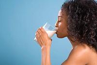 Woman Drinking Post_Workout Milk