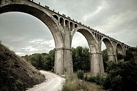 Golmayo railway bridge  Soria  Castilla y Le&#243;n Spain  Europe