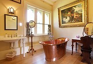 The Bathroom at 13th century Maunsel house manor, located in Somerset, England