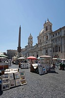 Church of Sant´Agnese in Agone, Fontana dei Quattro Fiumi, Fountain of the Four Rivers, Navona Square, UNESCO World Heritage Site