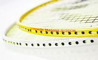 Studio shot of Badminton rackets