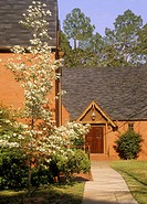 Calvary Episcopal church, Red clay bricks, Americus GA