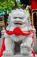 Tai Sin Wong Temple, Stone Lion Statue. China,Hong Kong,