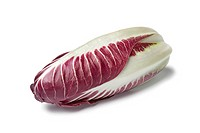 Fresh Radicchio rosso on white background